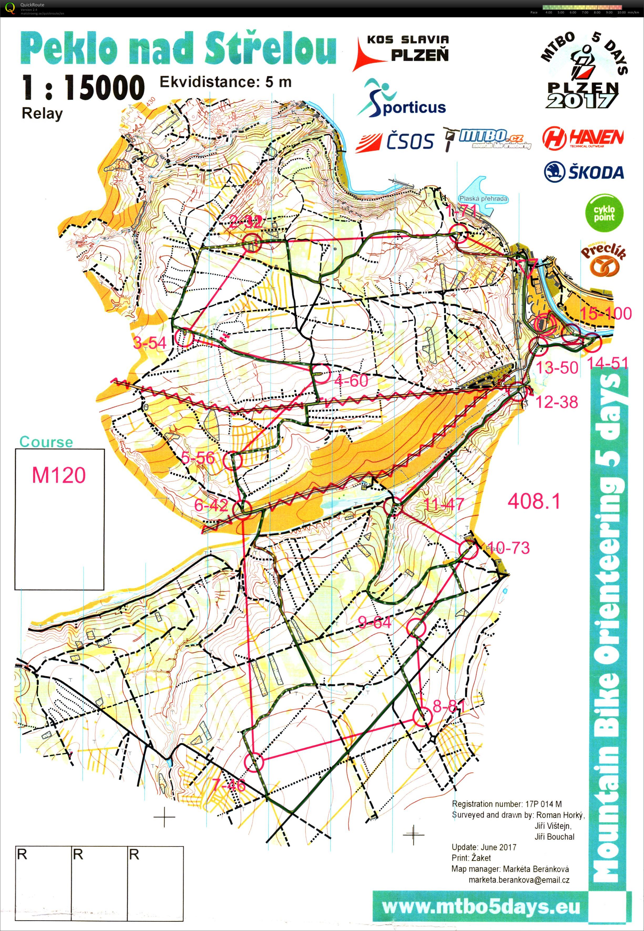 MTBO5Days Czech Relay Championships (2017-07-07)