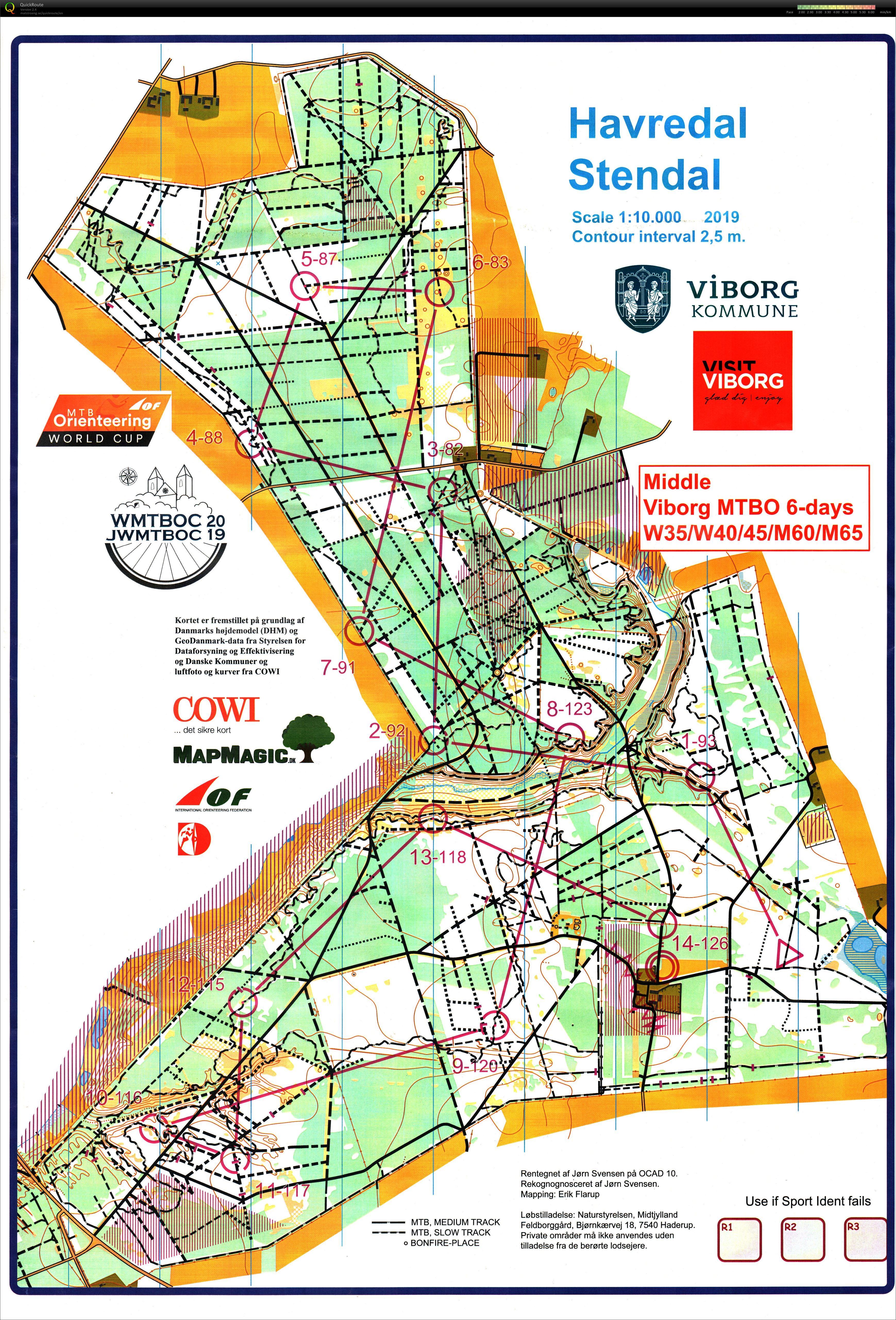 Viborg MTBO 6 days - Stage 2 - July 29th 2019 - Orienteering ...